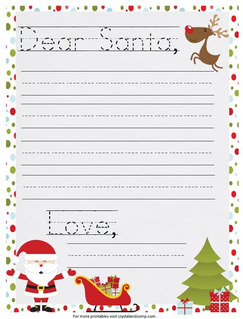 love  printable santa letter  kids santa