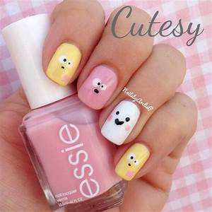 Cute emoji face nail art design inspirations