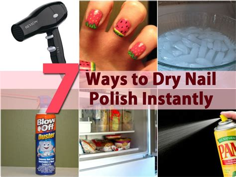 5 Ways To Dry Nail Polish Instantly