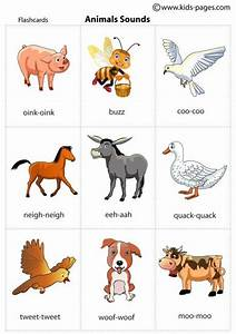 Animal sounds printable flash cards for practicing during ...