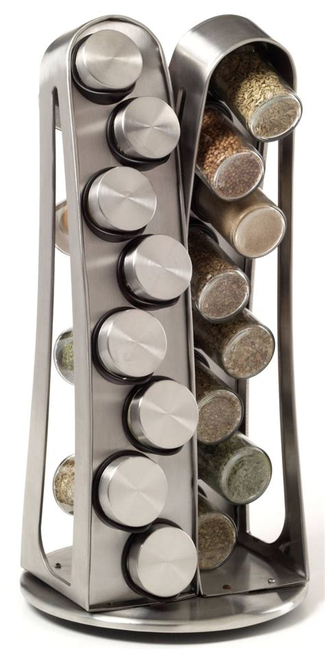 Steel Spice Rack by 16 Jar Stainless Steel Tower Spice Rack Gadgets Matrix