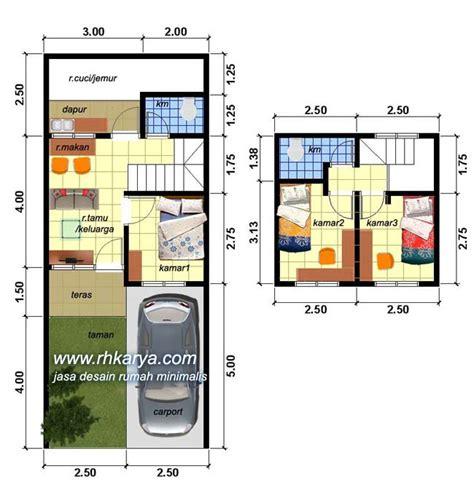 desain denah rumah minimalis  type