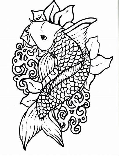 Coloring Japanese Pages Koi Educational