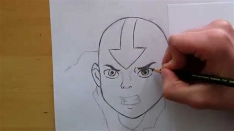 Speed Drawing Aang From Avatar The Last Airbender ( 2014