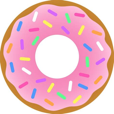 Donut Images Doughnut Clipart Rainbow Sprinkles Pencil And In Color