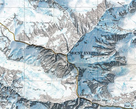 Mount Everest Maps, Map Of Mount Everest Base Camp