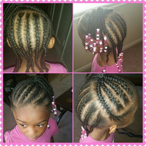 little girls braided hairstyle easy beads braids