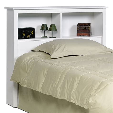 Prepac White Twin Bookcase Headboard Wsh4543 Furniture