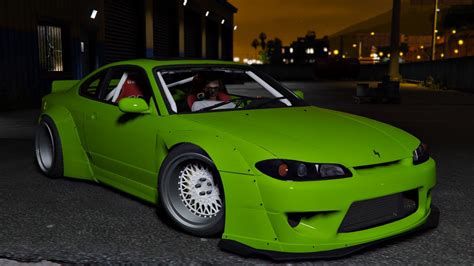 nissan silvia s15 nissan silvia s15 rocket bunny add on replace gta5
