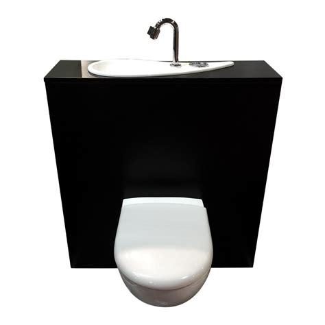 wc suspendu geberit avec lave mains design et robinet