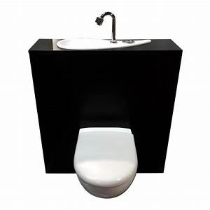 Lave Main Suspendu : wc suspendu geberit avec lave mains design et robinet ~ Nature-et-papiers.com Idées de Décoration