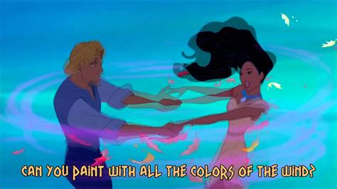 color of wind pocahontas colors of the wind lyrics