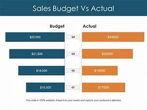 powerpoint theme vs template - sales budget vs actual ppt design templates powerpoint