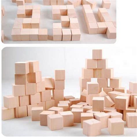 Cube En Bois 100 Pcs Lot 2cm Cube Cube En Bois Massif Bloc De Bois Jouets 233 Ducatifs D 233 But Assemblage Bloc