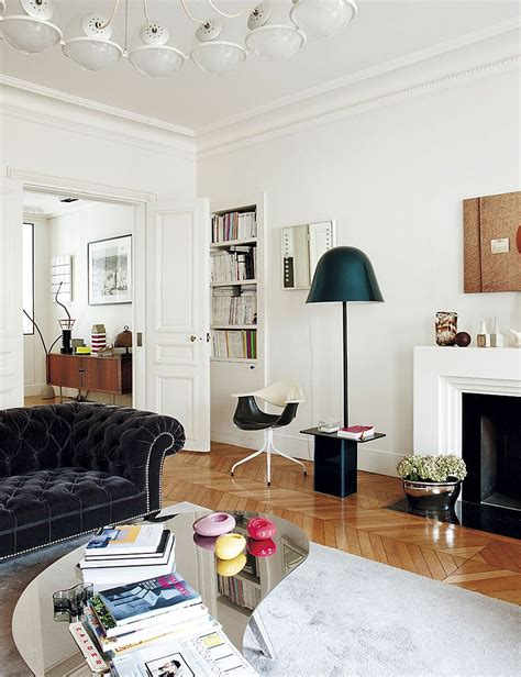 decorating parisian style chic modern apartment  sandra