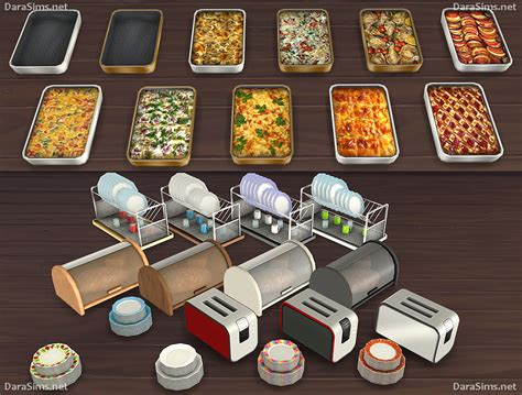 cuisine decorative my sims 4 kitchen clutter and food decor by dara