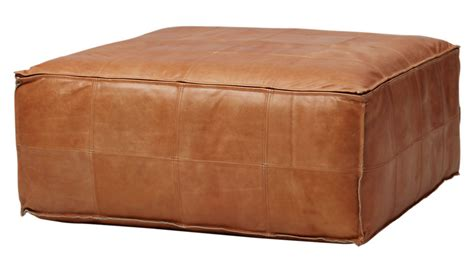 leather ottoman pouf reviews cb