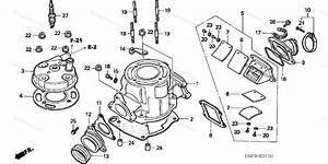 Honda Motorcycle 2003 Oem Parts Diagram For Cylinder Head