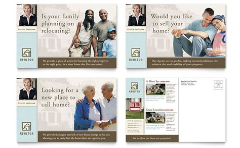 house  sale real estate postcard template design