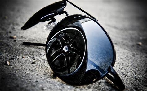 Sunglasses Reflection And Car Tire Wallpapers Hd / Desktop