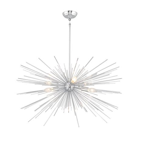 chrome sputnik chandelier y decor 6 light chrome sputnik chandelier lz1206 6c the