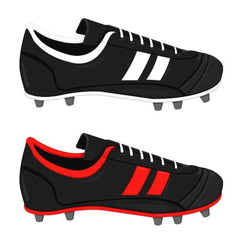 soccer shoe illustrations royalty  vector