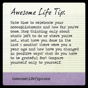 Celebrate the Accomplishments - Awesome Life Tips ...