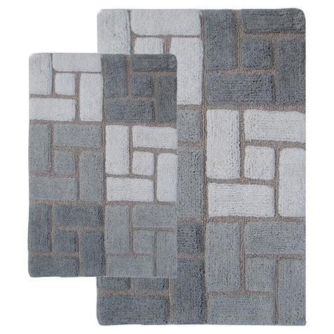 bathroom rug sets target berkely 2 pc bath rug set gray white chesaepeake