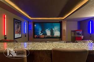 Basement Home Theater - Traditional - Basement - Minneapolis