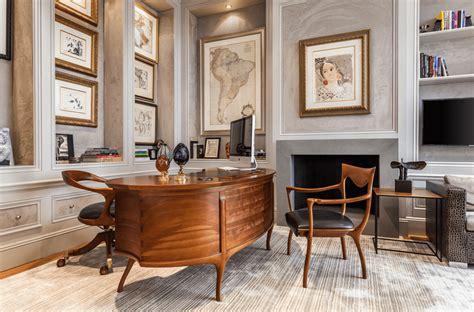bureau imac design decorate brown wooden table artistic