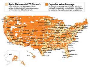 Sprint Cellular Coverage Map