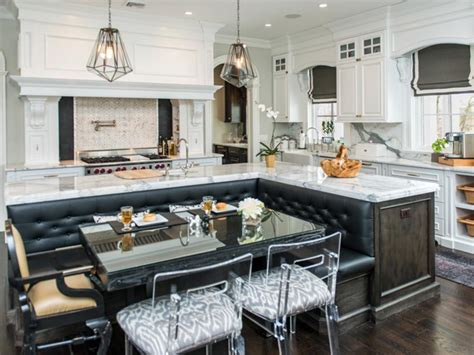 stunning kitchen booths  banquettes hgtv