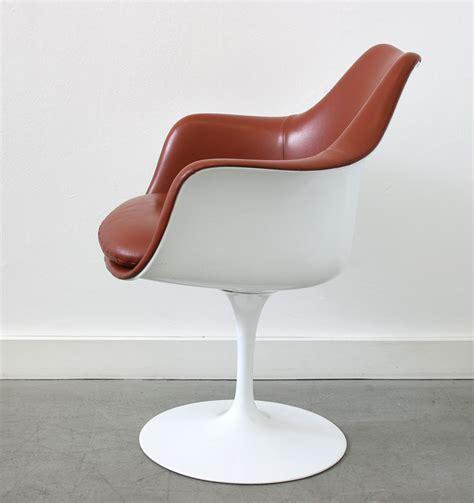 chaise tulipe knoll saarinen 6 fauteuils tulipe cuir knoll lausanne suisse