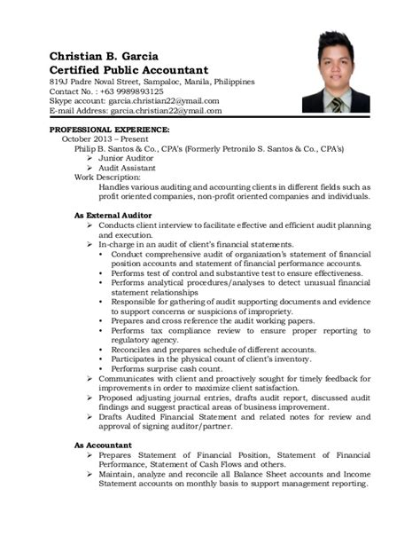 certified accountant resume 28 images accountant