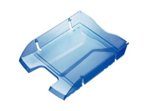 corbeilles 224 courrier greenlogic helit bleu transparent contact mon bureau et moi