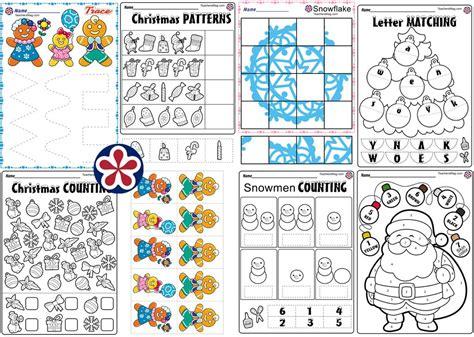 christmas worksheets  preschool teachersmagcom
