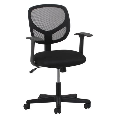 swivel mesh task chair with arms black