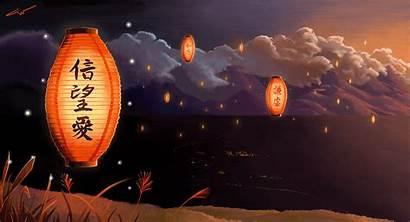 Japanese Wallpapers Lantern Lamp Oriental Chinese Geisha