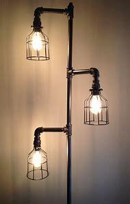 Adjustable Plumbing Pipe Floor Lamp