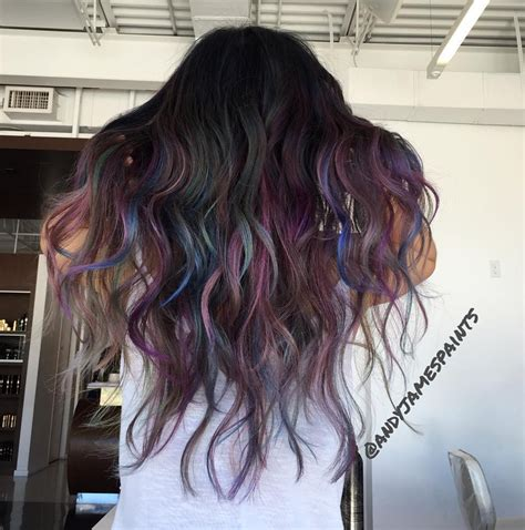 Mane Addicts Need To Know Oil Slick Hair Color Mane Addicts