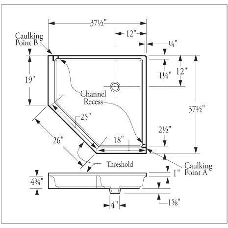 dimensions corner shower google search basement