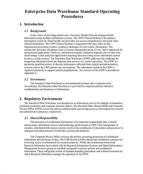 Warehouse Sop Template 33 sop templates in pdf sle templates