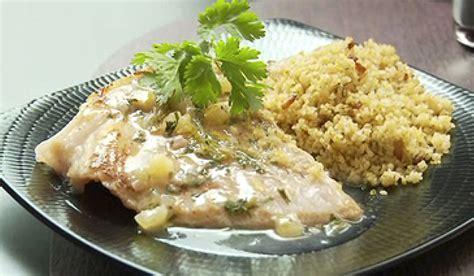 cuisiner raie recette ailes de raie poêlée au citron confit et boulghour