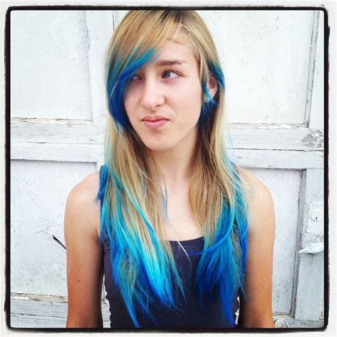 1000 Ideas About Blue Dip Dye On Pinterest Dip Dye Hair