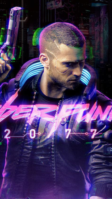 Cyberpunk 2077, video games, game poster, young adult, one person. 1080x1920 4k Cyberpunk 2077 Game Iphone 7,6s,6 Plus, Pixel xl ,One Plus 3,3t,5 HD 4k Wallpapers ...