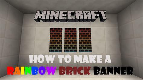 minecraft     rainbow brick banner youtube