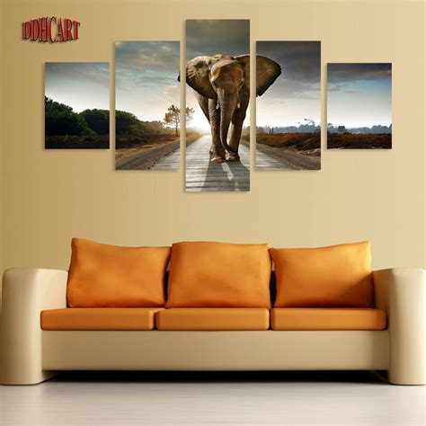 piece canvas art wall art prints painting elephant