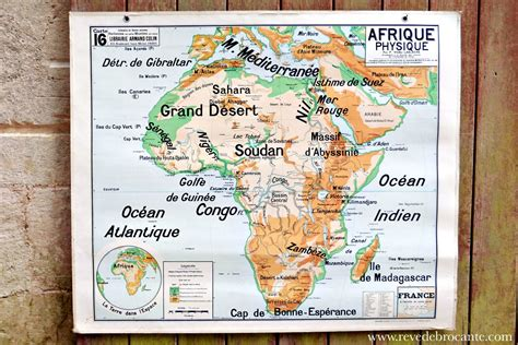 carte scolaire vidal lablache n 176 16 l afrique physique
