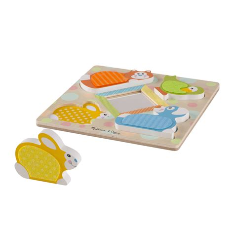 doug play wooden touch and feel peek a boo pets puzzle