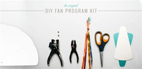 diy wedding programs    fan programs diy